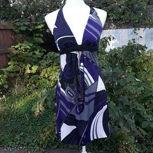 Wet Seal patterned halter dress